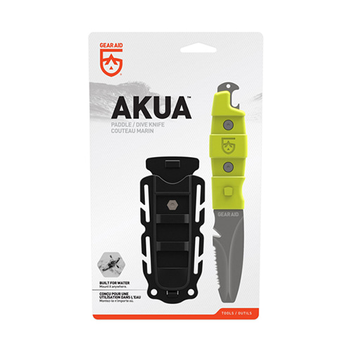 [GEARAID] Adventure Knife / AKUA 워터레저용 - Nav Green